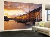 Nyhavn Harbour, Copenhagen, Denmark Wall Mural – Large by Jon Arnold