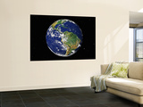 Full Earth Showing South America (With Stars) Wall Mural