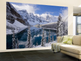 Wenkchemna Peaks and Moraine Lake, Banff National Park, Alberta, Canada Wall Mural – Large by Gavin Hellier