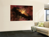 Young Star Surrounded by a Dusty Protoplanetary Disk Wall Mural