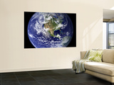 Spectacular Detailed True-Color Image of the Earth Showing the Western Hemisphere Wall Mural