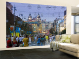 People Walking, Khreshchatyk Street, Kiev, Ukraine Wall Mural – Large by Gavin Hellier