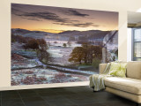 Frosty Morning, Little Langdale, Lake District, Cumbria, England Wall Mural  Large by Doug Pearson