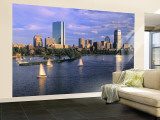 Back Bay, Boston, Massachusetts, USA Wall Mural – Large by Walter Bibikow