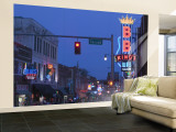BB King's Club, Beale Street Entertainment Area, Memphis, Tennessee, USA Wall Mural – Large by Walter Bibikow