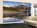 Pyramid Lake, Jasper National Park, Alberta, Canada Wall Mural – Large by Walter Bibikow