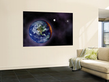 In This Artist's Visualization, the Earth is Shown at the Outer Edges of the Known Solar System Wall Mural
