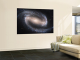 Beautiful Barred Spiral Galaxy NGC 1300, Hubble Space Telescope Wall Mural