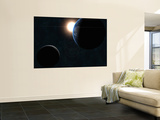 Earth, Moon and the Sun Wall Mural