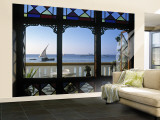 Dhow Through Window, Zanzibar, Tanzania Wall Mural – Large by Peter Adams