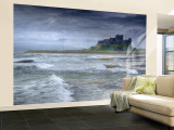 Bamburgh Castle, Northumberland, England, UK Wall Mural – Large par Alan Copson