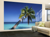 Tropical Beach at Maldives Wall Mural – Large by Jon Arnold