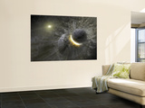 A Massive Collision of Objects Smashed Together to Create the Dust Ring Around the Nearby Star Vega Wall Mural