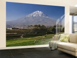 El Misti Volcano and Arequipa Town, Peru Wall Mural – Large by Michele Falzone