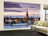 Sunset, Riddarholmen and Gamla Stan, Stockholm, Sweden Wall Mural – Large by Doug Pearson