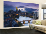 Skyline, Frankfurt-Am-Main, Hessen, Germany Wall Mural – Large by Walter Bibikow