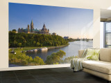 Parliament Hill and Ottawa River, Ottawa, Ontario, Canada Wall Mural – Large by Michele Falzone