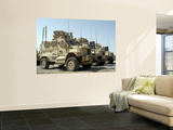 Mine Resistant Ambush Protected Vehicles Sit in the Parking Area at Joint Base Balad, Iraq Wall Mural