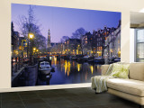 Prinsengracht, Amsterdam, Holland Wall Mural – Large by Jon Arnold