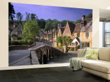 Castle Combe, The Cotswolds, Wiltshire, England Wall Mural – Large by Rex Butcher