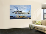 An MH-60s Seahawk Helicopter Prepares to Deliver Ammunition Wall Mural