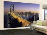 Oakland Bay Bridge, San Francisco, California, USA Wall Mural – Large by Walter Bibikow