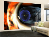 Voyager 2 Spacecraft Studies the Outer Limits of the Heliosphere Wall Mural  Large