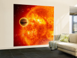 Gas-Giant Exoplanet Transiting Across the Face of Its Star Wall Mural  Large