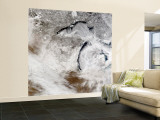 Cloud Streets over Lake Superior and Lake Michigan Wall Mural  Large