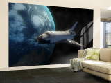 Space Shuttle Backdropped Against Earth Wall Mural – Large