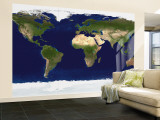 The Blue Marble: Land Surface, Ocean Color and Sea Ice Wall Mural – Large