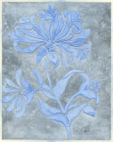 Silver Leaf Floral I Prints by Jennifer Goldberger