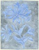 Silver Leaf Floral I Poster by Jennifer Goldberger
