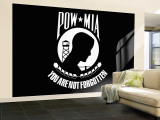 Pow-Mia Flag Wall Mural  Large