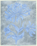 Silver Leaf Floral II Print by Jennifer Goldberger
