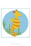 Sally the Seahorse Print by Erica J. Vess