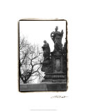 Charles Bridge in Morning Fog III Premium Giclee Print by Laura Denardo