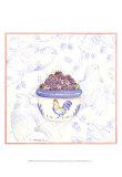 Toile and Berries II Prints by Nancy Shumaker Pallan