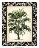 Palm in Zebra Border I Giclee Print