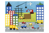 Storybook Construction Site Prints by Chariklia Zarris