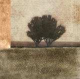 Textured Sepia Landscape I Posters