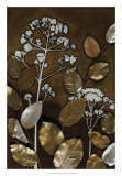 Gilded Leaf Collage II Giclee Print by Megan Meagher