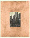 Copper Urban Landscape I Poster