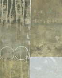 Silver Gilded Abstract I Posters