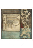 Damask Tapestry with Capital I Posters par Jennifer Goldberger