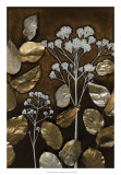 Gilded Leaf Collage I Giclee Print by Megan Meagher
