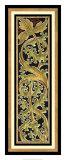 Sienna Woodcut Panel I Giclee Print