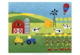 Storybook Farm Kunstdruck von Chariklia Zarris