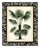Palm in Zebra Border II Giclee Print