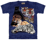 Big Cat Collage T-shirts